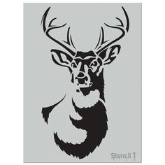 This easy-to-use Large Antlered Deer Stencil from Stencil1 is perfect for walls, home decor, clothing and more. Each stencil is cut high quality in order to provide a long lasting design. The possibilities of what you can create with a Stencil1 stencil are endless.