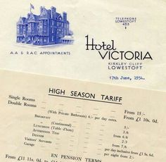 Hotel Victoria, Kirkley Cliff, South Lowestoft.