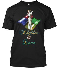 Rhythm Of Love Black T-Shirt Front