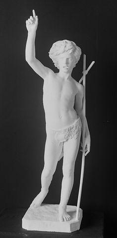 "Paul Dubois: ""Saint John the Baptist as a child"",1863, Plaster, Current location: The Metropolitan Museum of Art, New York, NY, USA."