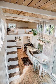 Tiny House Talk, Tiny House Loft, Tiny House Builders, Tiny House Nation, Building A Tiny House, Modern Tiny House, Tiny House Living, Small House Design, Tiny House Plans