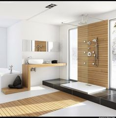 Modern bathroom design 204139795588902778 - Modern Bathrooms Interior Ideas With Spa-Like: Modern style home bathroom interior design with unfinished wood also bath faucets and shower head Source by livegeorgantas Modern Bathrooms Interior, Contemporary Bathroom Designs, Bathroom Interior Design, Interior Ideas, Bathroom Modern, Modern Contemporary, Modern Sink, Modern Shower, Timeless Bathroom