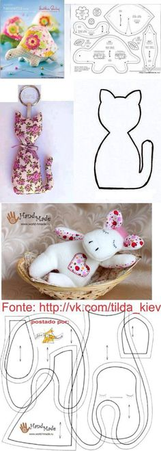 large selection of patterns for soft toys