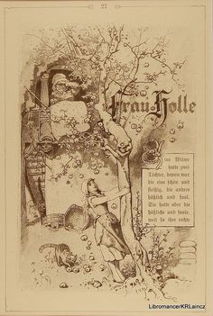 Frau Holle or Mother Hulda Title page  Grimm's by Libromancer, $45.00