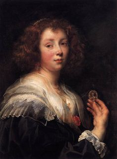 JORDAENS - Flemish (Antwerp 1593 - 1678) ~ Portrait of the Artist's Daughter Elizabeth