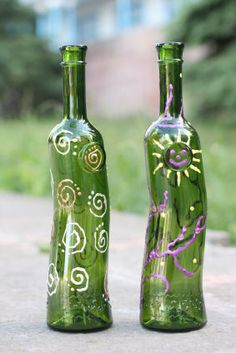 glass painting- would be fun to do with kids!