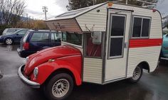 In the 1970's a company turned Volkswagen Beetles into bug campers, called Super Buggers, and sold them for $6,000. The vehicles have a kitchenette inside.