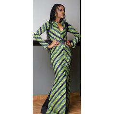 Robes de bal. Robe maxi africaine. Robe maxi Ankara. par TrueFond