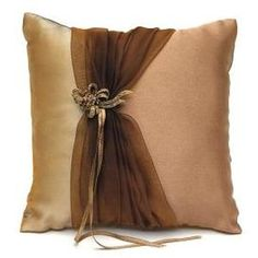 Fall Wedding bronze pillow.  So beautiful!  I love the vintage feel...