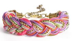 Stephan & Co. Braided Cord & Chain Bracelet