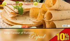 New plavour of #Ratlami !! PAPAD !! #Special Offer upto 10% off @@@@ Shop Now ▶ http://www.ratlamitadka.com/ FREE HOME DELIVERY ALL INDIA