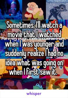 Sometimes, I'll watch a movie that I watched when I was younger and suddenly realize I had no idea what was going on when I first saw it.