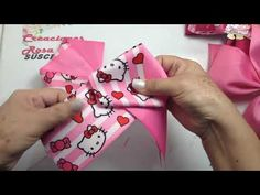 Bow Template, Bow Tutorial, Ribbon Bows, Hair Pieces, Hair Bows, Headbands, Gift Wrapping, Party, Handmade