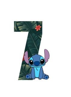 Número 7 Tema lilo e Stitch Disney Stitch, Lilo Y Stitch, Free Birthday Invitations, Disney Home Decor, Tropical Party, Happy Birthday Images, Birthday Party Decorations, Animation, Wallpaper