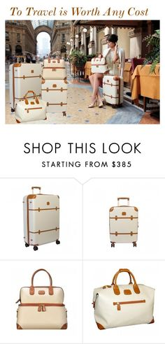 """""""BRIC'S Travel Bags"""" by brics-americas ❤ liked on Polyvore featuring Bric's, modern, vintage, travel, luggage, brics and Bellagio"""
