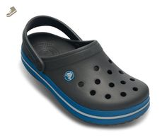 Crocs Crocband Shoe for Adults - Available in Many Colors!, Size: 13 D(M) US Mens, Color: Charcoal/Ocean - Crocs mules and clogs for women (*Amazon Partner-Link)