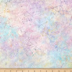 Artisan Batiks Pop Op Sticks Sweet from @fabricdotcom  Designed by Lunn Studios for Robert Kaufman Fabrics, this Indonesian batik is perfect for quilting, apparel and home decor accents. Colors include pastel pink, lavender yellow and blue.