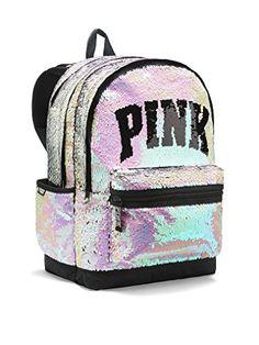 210c4dbd5e7 Victoria s Secret Pink Collegiate Backpack Bookbag School Bag Zip Pockets  Vs New