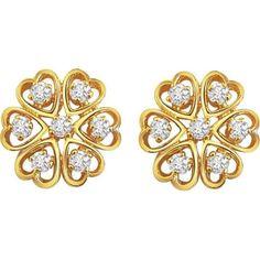 Demure Diamond Earrings