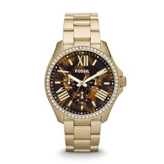 OMG!!! Cecile Multifunction Stainless Steel Watch – Gold-Tone AM4498 | FOSSIL®