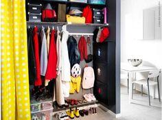 boy's closet organization