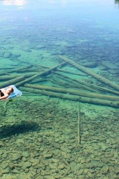 water so clear it looks shallow