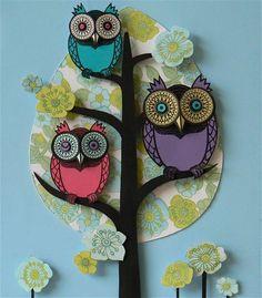 Búhos de papel by Helen Musselwhite