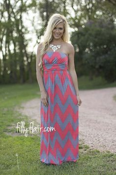 Speak to Me Chevron Maxi | The perfect chevron print summer maxi!