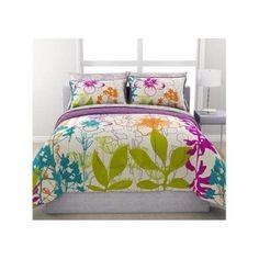 Comforter Bedding Set 7 Piece Sheets Purple Floral Reversible Twin Full Queen  #Modern