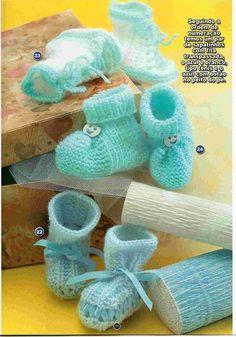 Receita Tricô Fácil   Revista TRICOT Sapatinhos Tricô   30 Lindos sapatinhos de Tricô para o enxoval do bebê ficar uma fofura .   Modelinh...