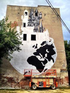 Phlegm New Mural In Warsaw, Poland