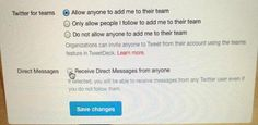 """""""Twitter lately unveiled """"Direct Message-DM"""", now user don't have to follow and get followed to send DM; they must """"opt-in"""" this feature from """"privacy and settings"""" to receive DM from other Twitter users who aren't following them."""