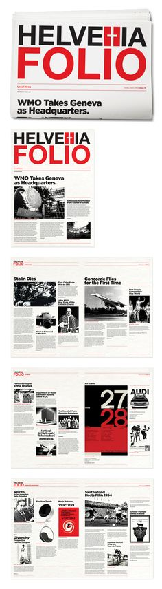 Helvetia Folio by Christina Hamoush, via Behance