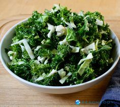 Hit the ground running this January with this recipe for kale salad packed with broccoli, cauliflower, and other nutrient-rich foods. // healthy recipes // Beachbody // BeachbodyBlog.com