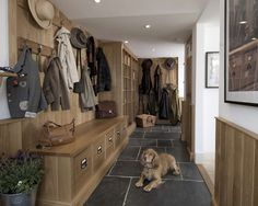 Boot Room Design & Boot Room Furniture by Thomas Ford & Sons Surrey UK Boot room ideas Bespoke Kitchens, Luxury Kitchens, Boot Room Utility, Mudroom Laundry Room, Dog Rooms, Reno, Large Homes, Living Room Designs, Ideal Home