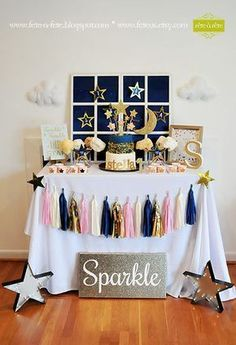 SALE Twinkle Twinkle Little Star Birthday or Baby Shower por FeteUS