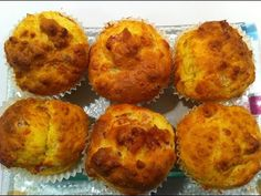 Recetas de cocina. Muffins de queso. - YouTube