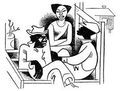 Mules and Men/ Zora Neale Hurston/ Lippincott, Philadelphia, 1935. Illustrator: Miguel Covarrubias