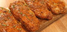 Honey Garlic Pork Chops - try using this sauce on grilled or baked pork chops