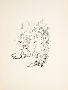 The Tale of Peter Rabbit by Beatrix Potter. First edition illustration.