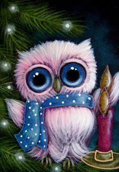 Detail Image for art HOLIDAY TINY OWL 1