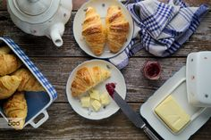 Home-baked puff pastry butter croissants with marmalade by Luka M on 500px