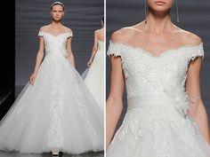 Vestido: Rosa Clará / Foto: Barcelona Bridal Week