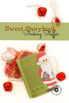 DIY Sweet Storybook Stocking Stuffer Idea {Download the free printable to create the book-shaped box, and then fill it with your kiddo's fav...