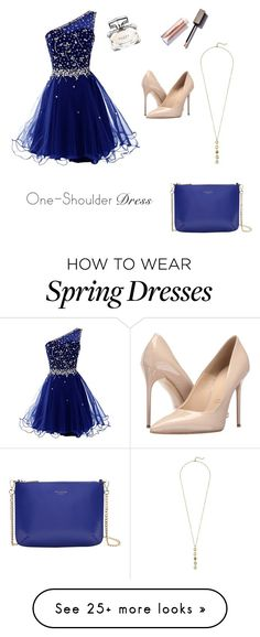 """""""One-shoulder dress"""" by hannahhowells on Polyvore featuring Gucci, Massimo Matteo, Cole Haan and Ted Baker"""