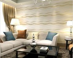 Beibehang Modern 3 d wallpaper Beibehang Water ripple curve stripes TV setting wall paper wallpaper in the living room volume Striped Wallpaper, Paper Wallpaper, Water Ripples, Romantic Homes, Living Room Tv, 3 D, Couch, Curtains, Bedroom