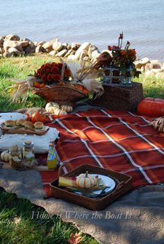 Fall Tartan Picnic by the sea . Fall Picnic, Picnic Time, Summer Picnic, Picnic Parties, Beach Picnic, Outdoor Parties, Dinner Parties, Summer Parties, Tea Parties