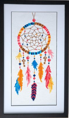 Dreamcatcher Cross Stitch Pattern Instant by tinymodernist on Etsy