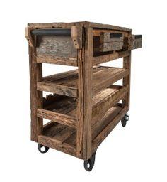 SoBuy Servierwagen aus hochwertigem Bambus,Küchenwagen,Küchenregal ... | {Küchenwagen 32}