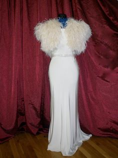 Sample Sale Ostrich Feather Shrug Jacket size by theweddingdresser, $525.00